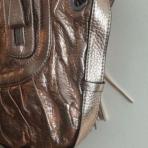 Guess Bags - Guess metallic peach handbag